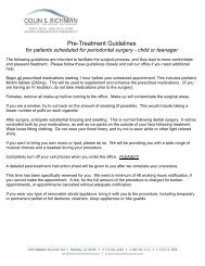 Pre- and Post-Treatment Guidelines for Children - Roswell ...