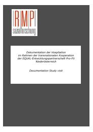 Dokumentation der Hospitation im Rahmen der transnationalen ...