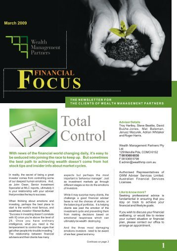 March Newsletter A4 format - WMP Group