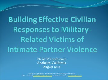 Please click here to view the presentation. - Battered Women's ...