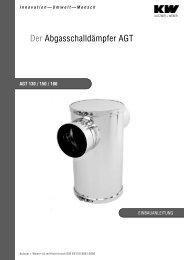 Der Abgasschalldämpfer AGT - Kutzner+Weber
