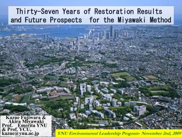 Thirty-Seven Years of Restoration Results and ... - Rainforestation