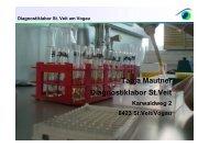 Ergebnisse 2012 von Tanja Mautner ... - Tierklinik St. Veit