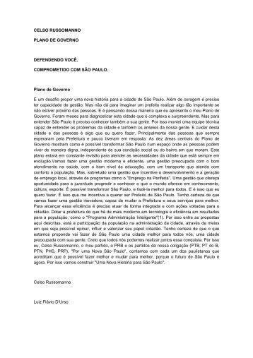 Proposta de governo - DivulgaCand