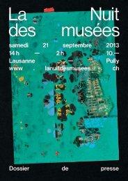 Dossier de presse 2013 (PDF) - Nuit des musées