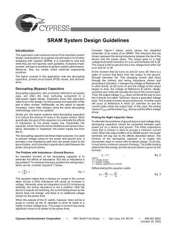 SRAM System Design Guidelines