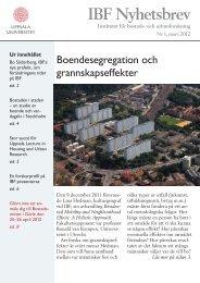 IBF Nyhetsbrev - Institutet för bostads- och urbanforskning - Uppsala ...