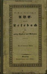 Erstes deutsches ABC- und Lesebuch für artige Knaben und Mädchen