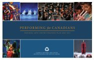 National Arts Centre Strategic Plan 2008-2013: Performing for ...