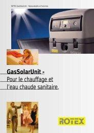 Gassolarunit - Pour le chauffage et l'eau chaude sanitaire.