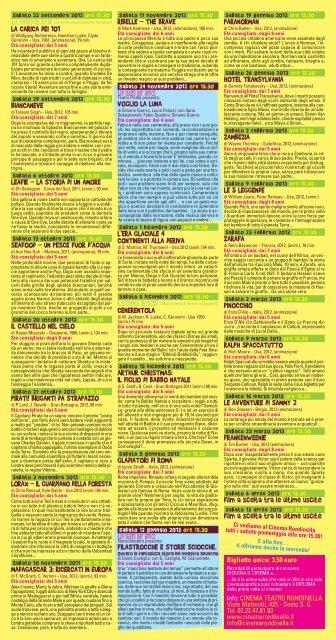 CINEMA CINEMA - Cinema Rondinella