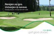 Golf prospekt - Terme Krka