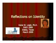 Reflections on Identity
