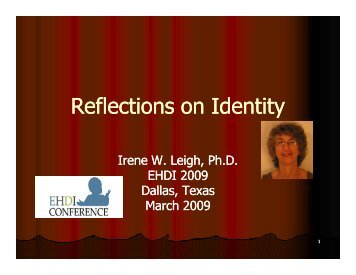 Reflections on Identity