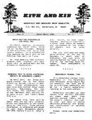 March - April 1986 - Marshfield Area Genealogy Group