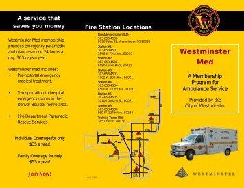 12 westy med brochure - City of Westminster