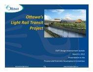 View the Presentation - Ottawa Light Rail