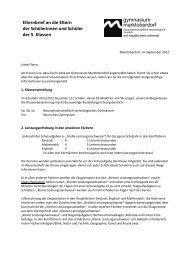 Elternbrief für die 5. Klassen zum Schuljahresbeginn 2012/13