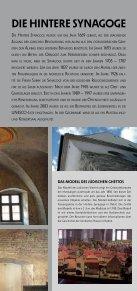Die Hintere Synagoge unD jüDiScHeS MuSeuM - Třebíč - Seite 5