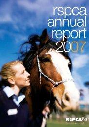 2007 Annual Report - RSPCA Victoria