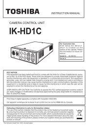 Toshiba IK-HD1C User Manual - CCD Direct
