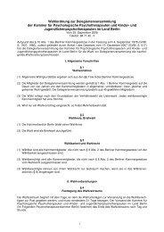 Wahlordnung (PDF, 76 kb) - Kammer für Psychologische ...