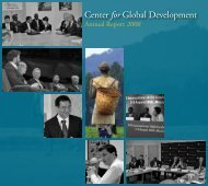 as of December 31, 2008 - Center for Global Development