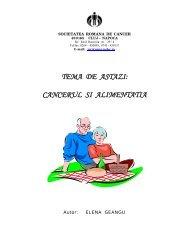Cancerul si alimentatia - Societatea Romana de Cancer Cluj-Napoca