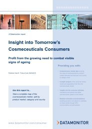 Insight into Tomorrow's Cosmeceuticals Consumers - Datamonitor
