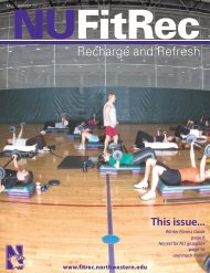 2012-Fall-Winter-NUF.. - Fitness & Recreation - Northwestern ...
