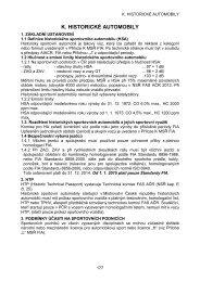 K. HISTORICKÉ AUTOMOBILY - Autoklub České republiky