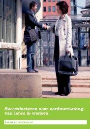 Succesfactoren voor verduurzaming van leren & werken - ecbo