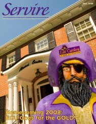 Homecoming 2008: ECU Goes for the GOLD! - PirateAlumni.com