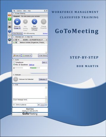 GoToMeeting - Workforce Management Classified Training