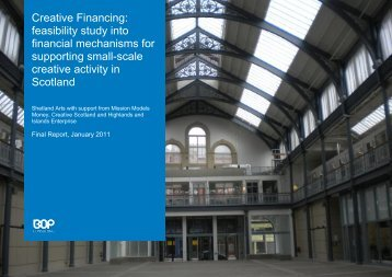 Creative Financing: feasibility study into financial mechanisms for ...