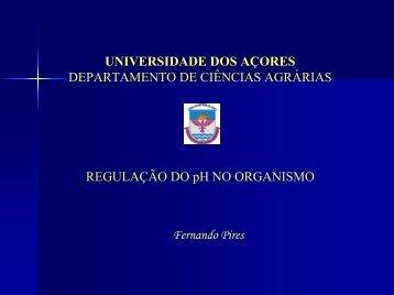 Regulação do pH no organismo - Universidade dos Açores