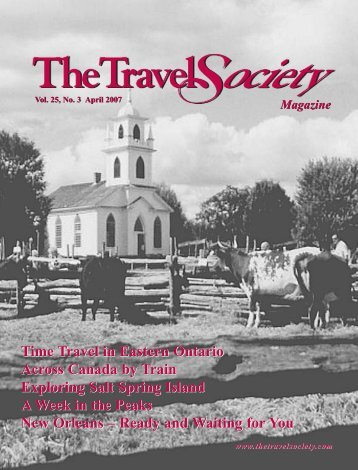Vol. 25 No. 3 April 2007 - The Travel Society