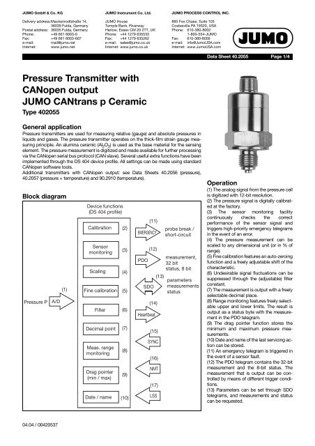 Jumo Pressure Transmitter Wiring Diagram