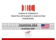 Incoming USA - CCIAA di Pordenone - Camera di Commercio