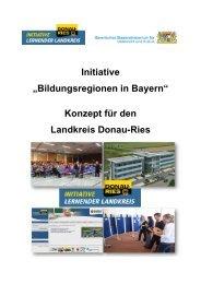 Bildungsregionen in Bayern - Landkreis Donau-Ries