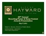 28th Annual Recycling Poster & Essay Contest A d P i A d P i ...