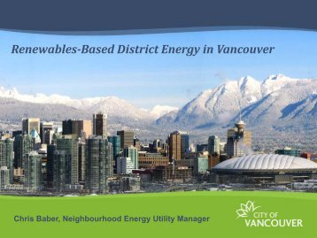 Renewables-Based District Energy in Vancouver