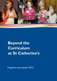 Beyond the Curriculum at St Catherine's - 2012 - St Catherine's School