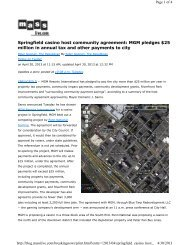 Springfield casino host community agreement ... - City of Springfield