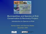View - Species at Risk