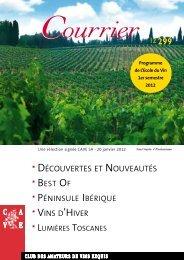 Ecole du Vin Premier semestre 2012 - Cave SA