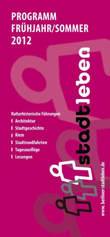 programm frühjahr/sommer 2012 - Stadtleben