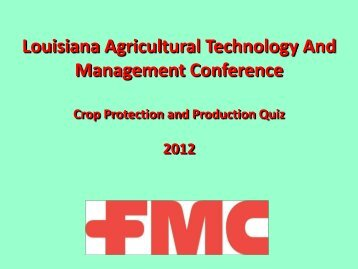 Answer - Louisiana Agricultural Consultants Association ( LACA )