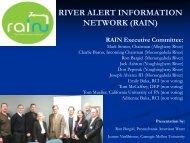 RIVER ALERT INFORMATION NETWORK (RAIN)