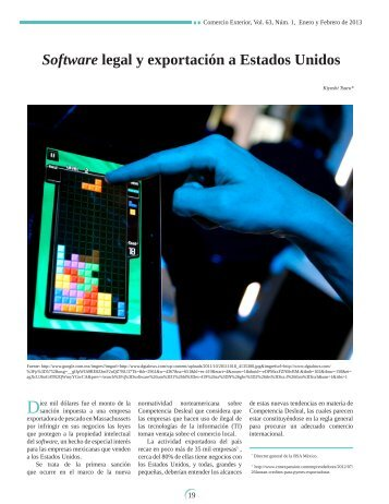 Software legal y exportación a estados unidos - revista de comercio ...